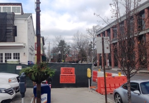 Sidewalk detour on Witherspoon Street. (click to expand.)