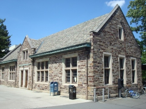 The old Dinky Rail Station in Princeton. In 2015, this building will almost certainly reopen as a restaurant. (click to expand.)