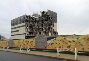 Demolition at the old Princeton hospital. (click to expand)