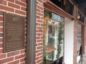 ETS plaque outside Jammin' Crepes in Princeton. (click to expand)