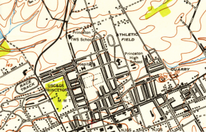 Lytle Streetis  just south-west of the 'hospital' site marked on this Princeton map from 1952.