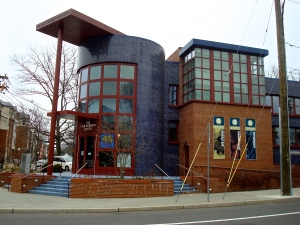 The Paul Robeson Center for the Arts in Princeton is a distinctive Michael Graves design. But the building was the source of controversy for years. (click to expand)