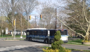 The #655 'HealthLine' bus, seen here in Princeton, is facing the ax in NJ Transit cutbacks (click to expand).