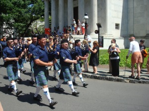 Princeton University's campus is a site for all kinds of activities, such as bagpiping. The University is now gathering info on how members of the community use the campus. (click to expand.