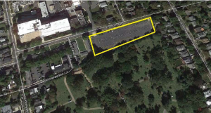 One potential site for new affordable housing: The 'Franklin Lot' at Franklin Avenue and Harris Road. (click to expand.)