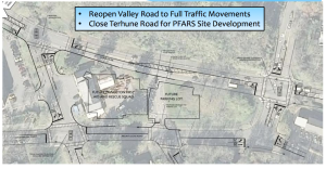 Proposed closure of Terhune Road, as presented at neighborhood meeting 5/12/2015. (click to expand.)