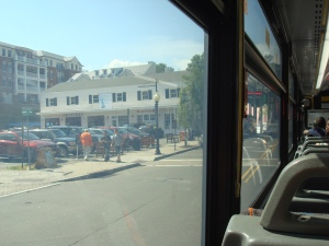 Downtown Princeton, as seen from inside the NJ Transit #605 bus. (click to expand.)