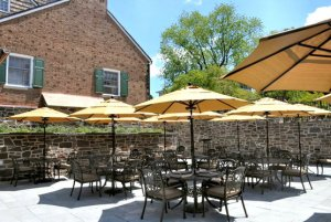 Patio at Yankee Doodle Tap Room (image via Nassau Inn blog, click to expand).