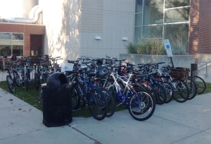 More overflowing bike racks at Princeton High School. (click to expand)