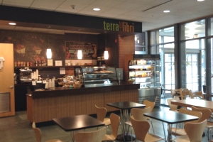Terra Libri coffee shop at Princeton Public LIbrary. (click to expand)