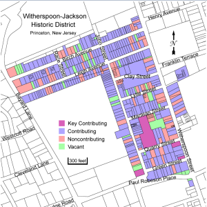 Map of proposed historic designation area in Princeton (click to expand)