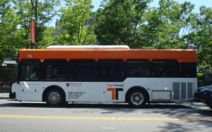 Tiger Transit Bus on Nassau Street, Princeton. (click to expand)