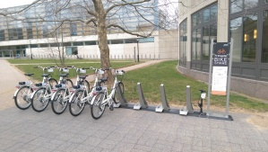 Flexible: Bikeshare at the Equad allows transportation choices. (click to expand)