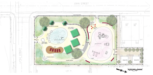 'Plan A' for refurbishment of Mary Moss Park. (click to expand)