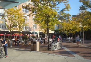 Hinds Plaza, heart of walkable downtown Princeton. (click to expand)