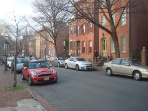Historic townhouses in Trenton's walkable Mill Hill neighborhood. (click to expand)